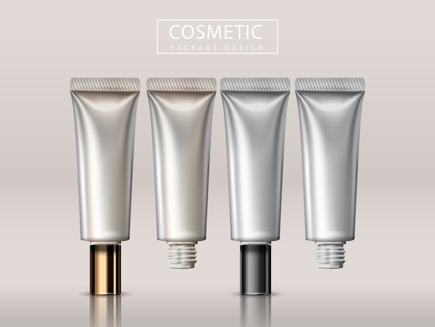 Illustrazione di design pacchetto cosmetico Vettore Premium