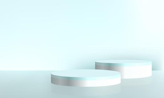 Mockup di scena minima astratta del fondo di presentazione del prodotto cosmetico