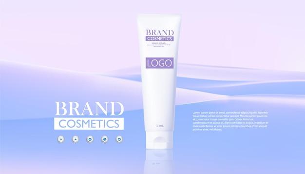 Prodotto cosmetico con sfondo astratto