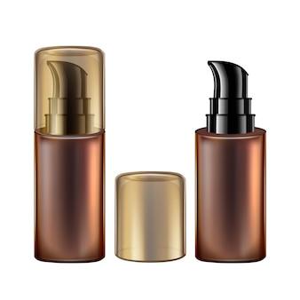 Bottiglia di schiuma aromatica cosmetici con pompa