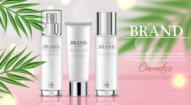 Modello di idratazione crema idratante cosmetici