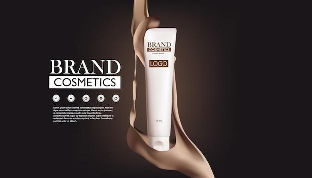 Modello di poster di annunci di prodotti cosmetici
