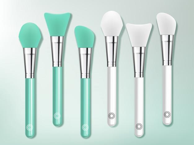 Set di pennelli o spatole per silicone e cura della pelle