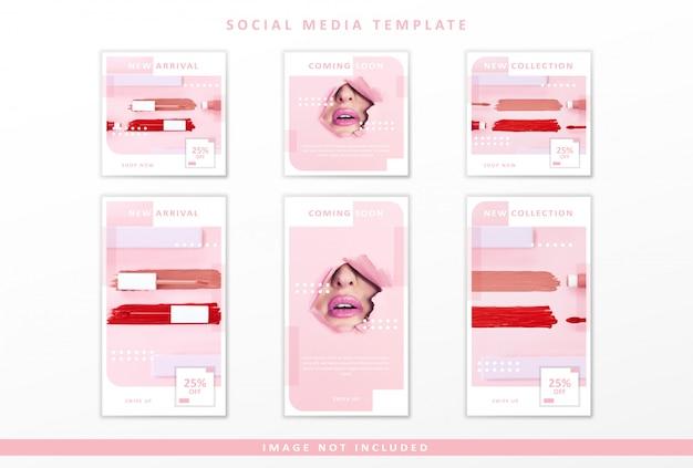 Modello di social media cosmetici