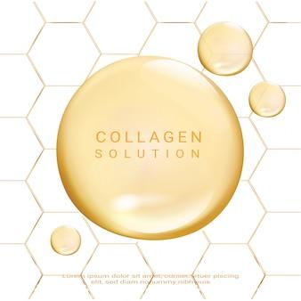 Soluzione cosmetica. suprema essenza di collagene.