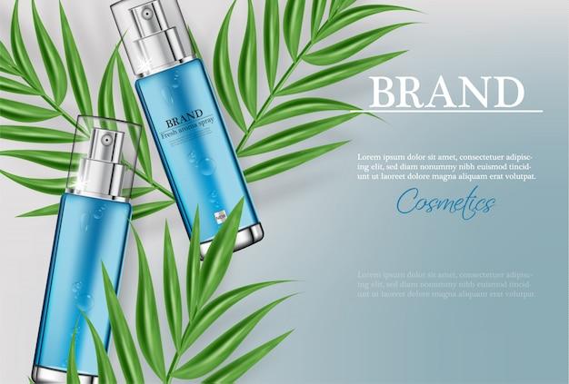 Cosmetici spray modello idratante per acqua