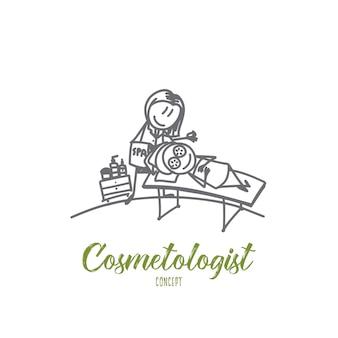 Illustrazione di concetto di cosmetologo