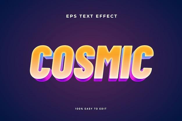 Effetto di testo cosmico