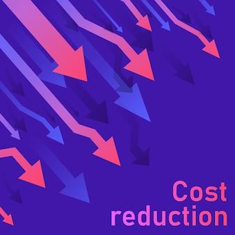 Concetto di riduzione dei costi.