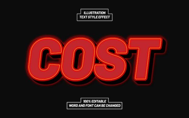 Effetto stile testo costo