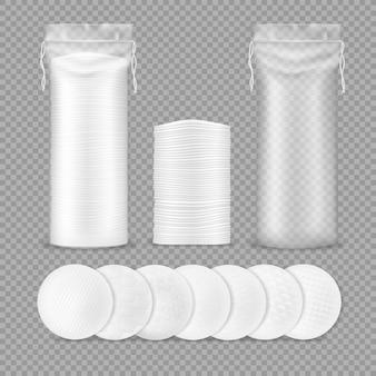 Illustrazione realistica di tamponi di cotone