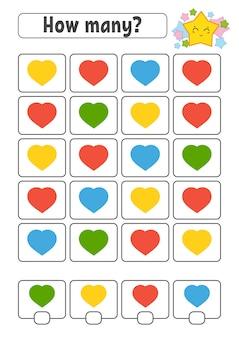 Conteggio del gioco per bambini. personaggi felici. imparare la matematica.