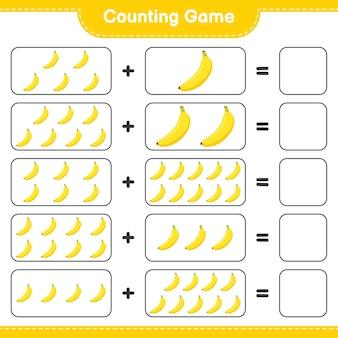 Conteggio del gioco, conta il numero di banana e scrivi il risultato.