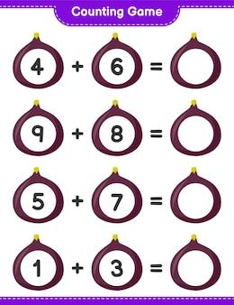 Contando il gioco, conta il numero di fig e scrivi il risultato. gioco educativo per bambini, foglio di lavoro stampabile