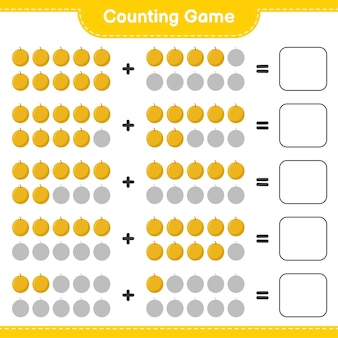 Conta il gioco, conta il numero di honey melon e scrivi il risultato.