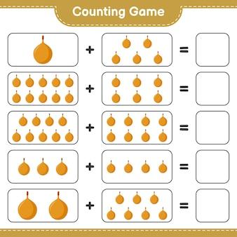Contando il gioco, conta il numero di voavanga e scrivi il risultato.