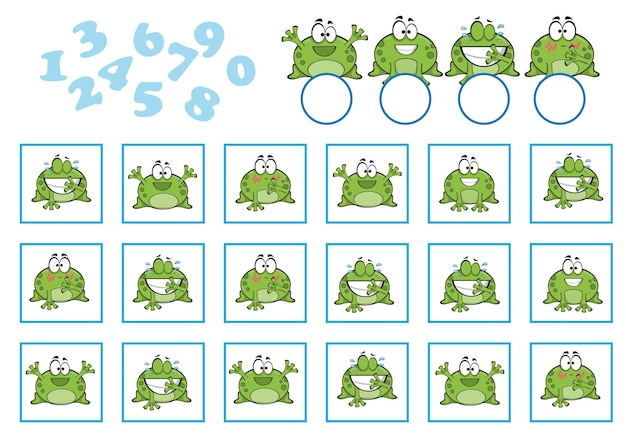 Gioco di conteggio per bambini in età prescolare. educativo un gioco matematico. conta quanti e scrivi il risultato