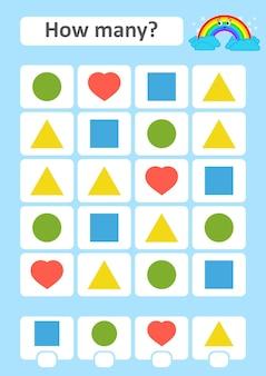 Conteggio del gioco per bambini in età prescolare