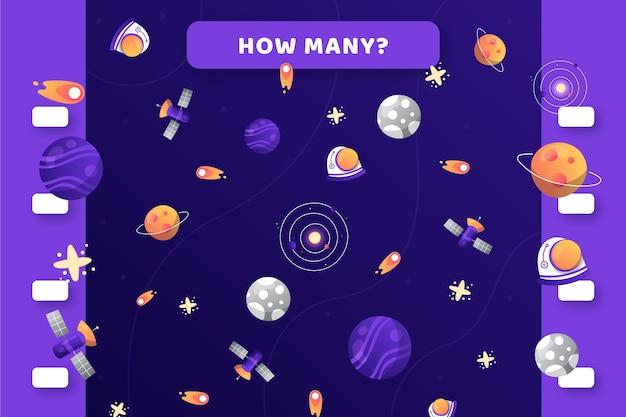 Conteggio del gioco con elementi spaziali