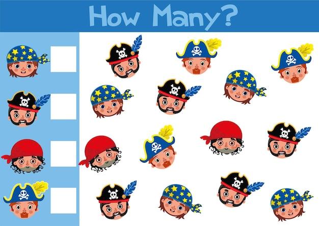 Conteggio giocattoli illustrazione del gioco per bambini in età prescolare in formato vettoriale