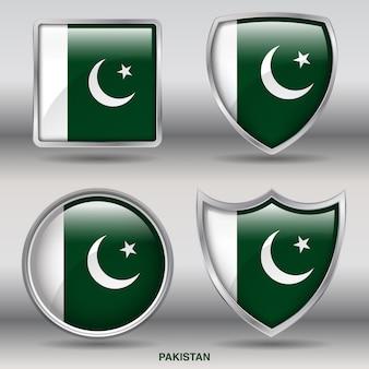 Icona di forme 4 bandiera smussata paese
