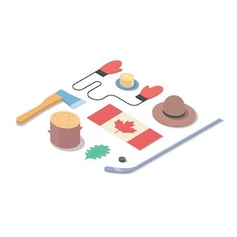 Paese canada, illustrazione isometrica