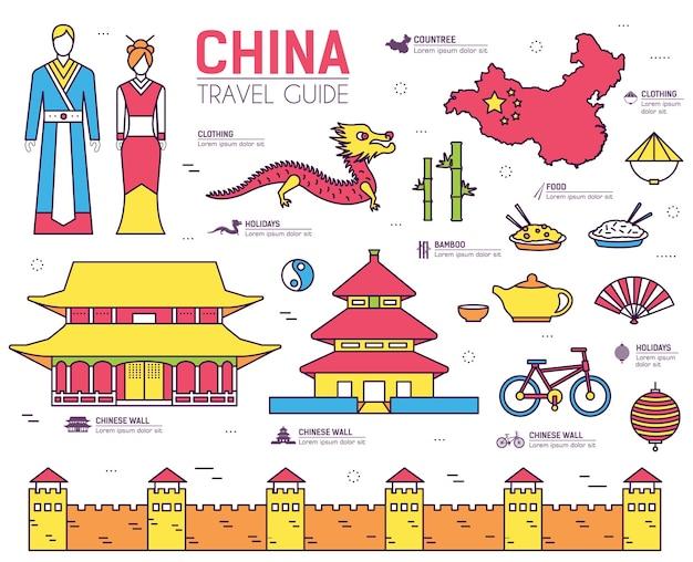 Paese cina guida per le vacanze di viaggio delle merci