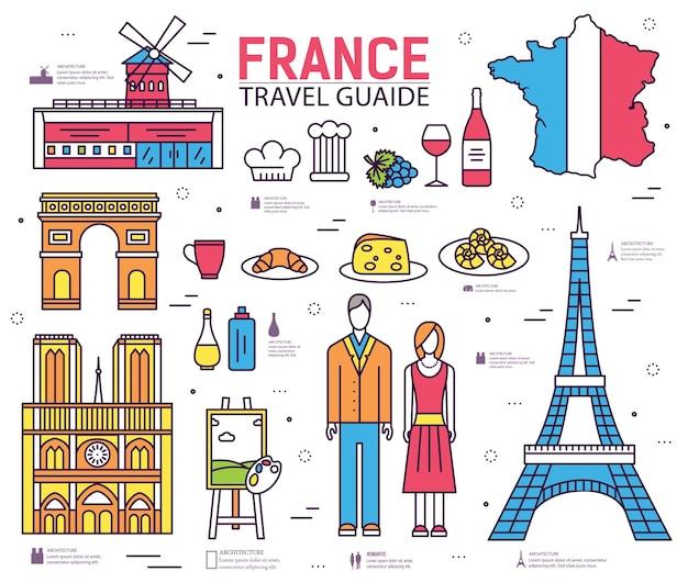 Paese francia guida di viaggio delle merci