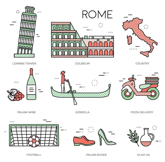 Paese italia guida di viaggio delle merci