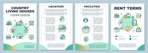 Modello di brochure di case di campagna