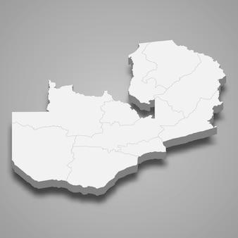 Mappa del paese con i confini delle regioni