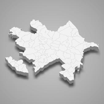 Mappa del paese con bordi Vettore Premium