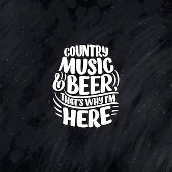 Citazione di lettere di musica country per il poster dell'evento dal vivo del festival