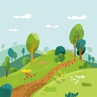 Paesaggio di campagna con sentiero