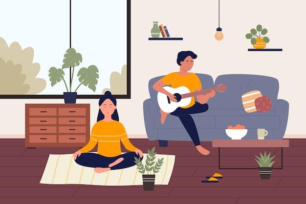 Attività di coppia a casa