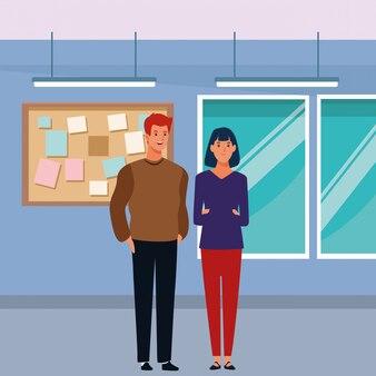 Personaggio dei cartoni animati di coppia avatar