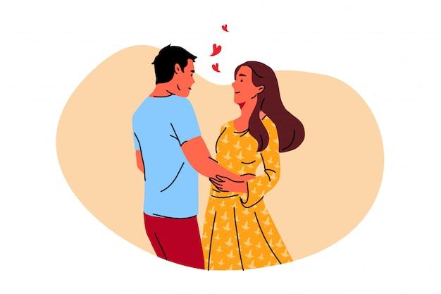 Coppia, danza, romanticismo, appuntamento, concetto di amore