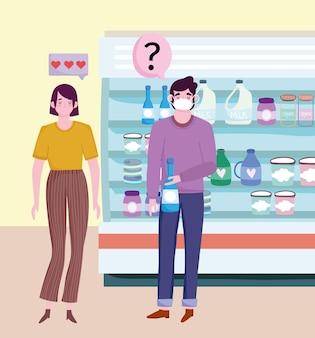 Negozio di alimentari di coppia