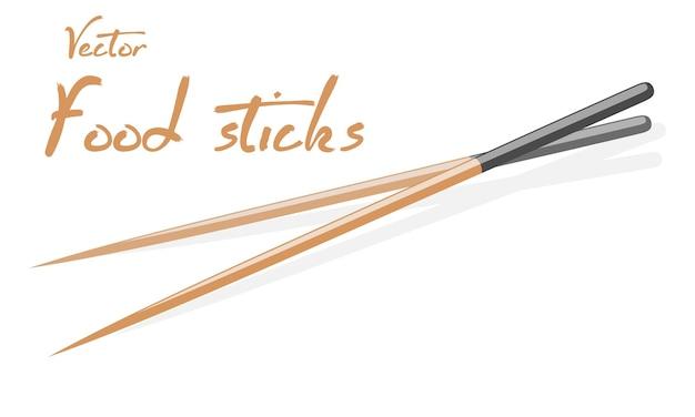 Coppia di bacchette giapponesi o cinesi in legno di bambù per mangiare piatti asiatici