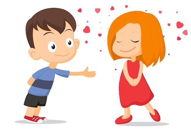 Un paio di bambini che si innamorano