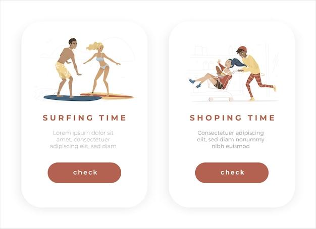Set di modelli di app per coppia
