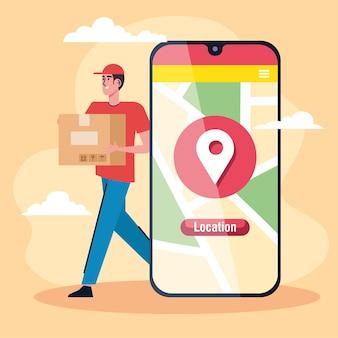 Corriere e smartphone