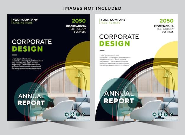 Modello di copertina del libro per azienda