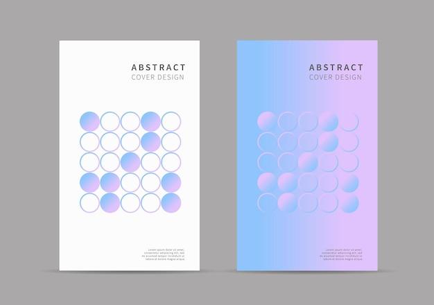 Modello di disegno di copertina cerchio astratto