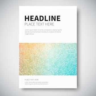 Cover design con geometria colorata astratta.