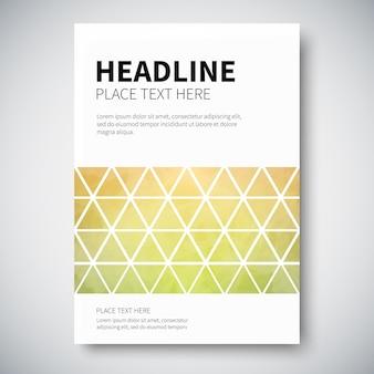 Cover design con geometria foderata triangolare colorata astratta