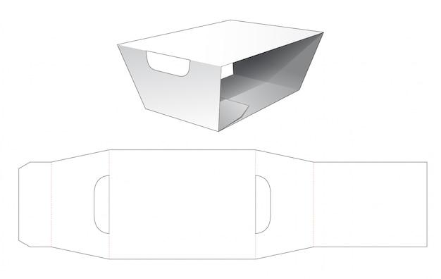 Coprire il modello fustellato contenitore per alimenti