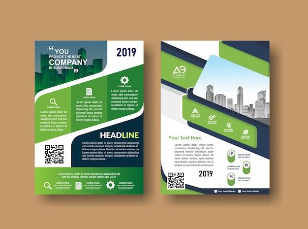 Flyer brochure di layout di copertura per eventi e report