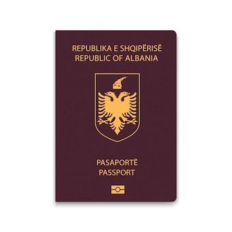 Cover passport of albania