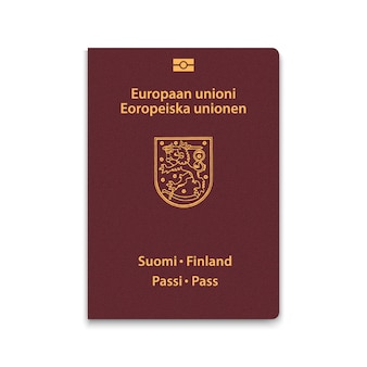 Cover passport of finland